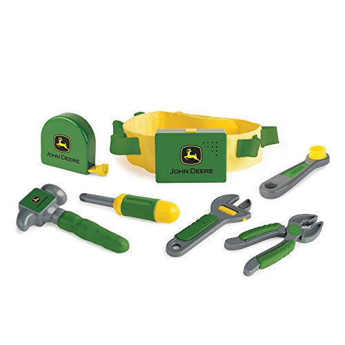 John Deere Deluxe Talking Toolbelt | Perfect for Toddler Fixer Uppers | 6 Toy Tools and Belt with Talking Buckle | Creative DIY Fun for Kids from TOMY
