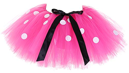 Tutu Dreams Minnie Tutu Adult Pink Polka Dots Skirts Women Holiday Running Dance Ballet Dress Up (Free Size, Pink) ()