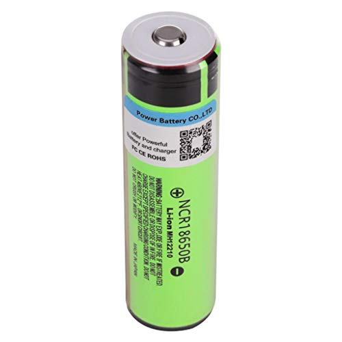 Fan-Ling 4pcs Li-ion Battery 18650, 3400AMH Service Capacity,3.7V Battery Voltage Cylindrical Lithium-ion Rechargeable Battery Batteries,Green Color,for Flashlight Drop Cell