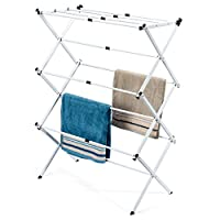 HOUSE DAY 3 Tiers White Extendable Drying Rack Foldable Clothes Drying Laundry Rack White