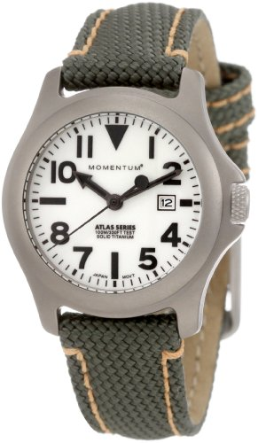 Momentum Women's 1M-SP01W14G Atlas White Dial Green Snowboard Nylon Watch