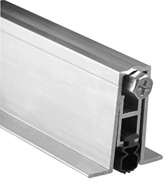 pemko aluminum automatic door bottom mill finish 87504