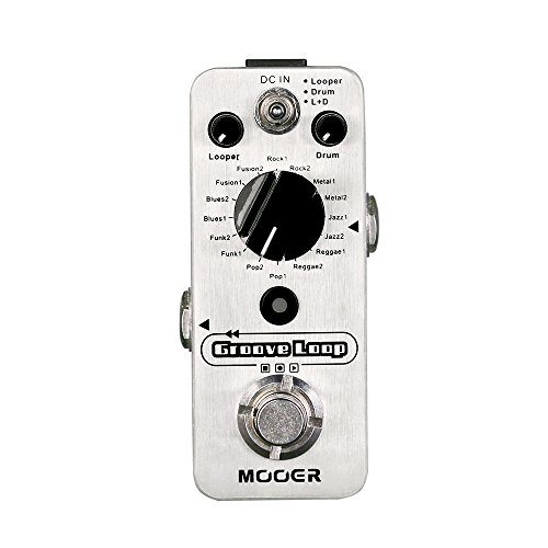 MOOER Groove Loop Drum Machine Looper Pedal (Best Drum Pedal For Guitar)