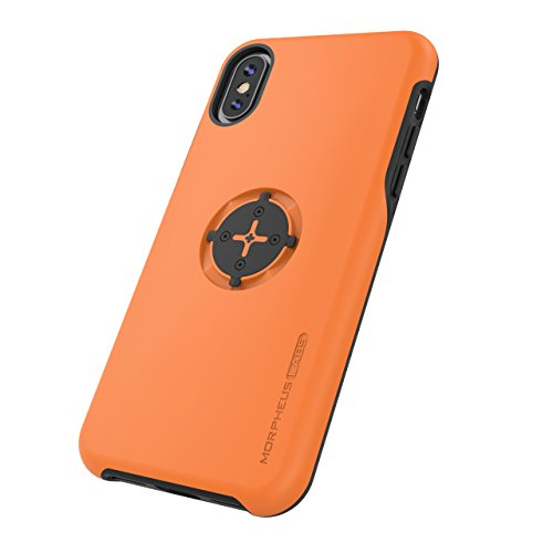 ❥ MORPHEUS LABS M4s Bike Case iPhone X/Xs / 10 Phone Cover for Bicycle (Bike Mount/Holder is not Included) [Orange] orange iphone 8 case 12