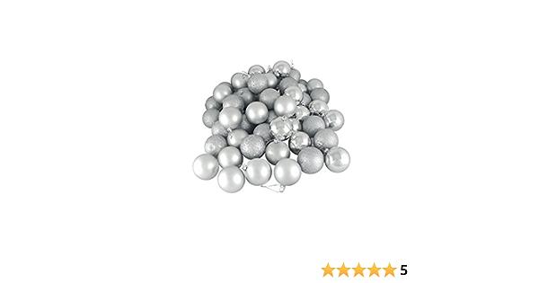 2.5 Northlight 31744233 60 Count Matte Silver Splendor Shatterproof Christmas Ball Ornaments