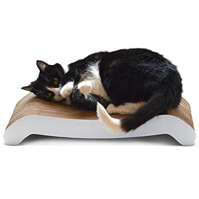 PetFusion Reversible Curve Cat Scratcher