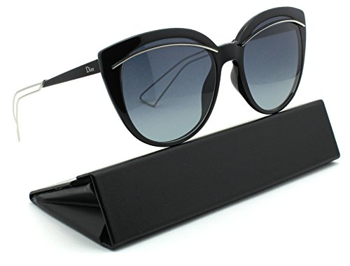 Christian Dior LINER Women Round Gradient Sunglasses (Black Palladium Frame, Grey Gradient Lens - Glass Christian Dior