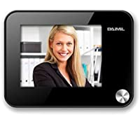 MALO Black 3.5 Inch LCD HD Monitor Display Digital Camera Door Peephole Viewer Auto Photo Snapping Video Recoding with Doorbell