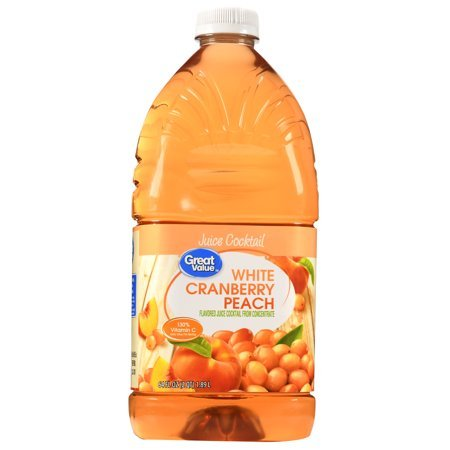 Juice Cocktail, Cranberry Peach, 64 Fl Oz, 1 Count,Pack of 4 ()