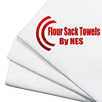 Flour Sack Dish Towels Are 100% Soft, White Cotton - Super Absorbent 30 Inch ...