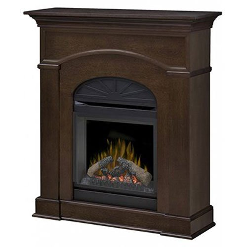 Espresso Electric Fireplace Package - 8