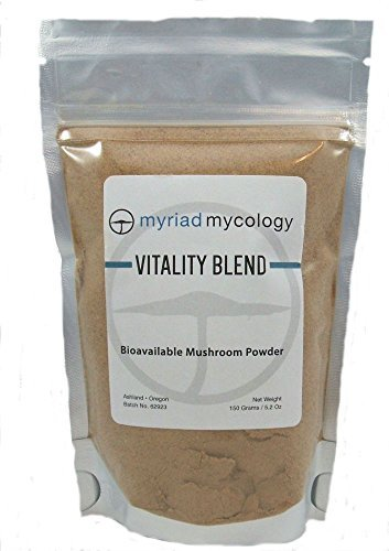 Cheap Myriad Mycology Vitality Blend – Mushroom Powder 5.2oz or 150g. 10 Medicinal Mushroom Powders. Lions Mane, Cordyceps, Turkey Tail, Reishi, Chaga, Maitake, Shiitake, Blazei, Agarikon, and Mesima Sang-Huang