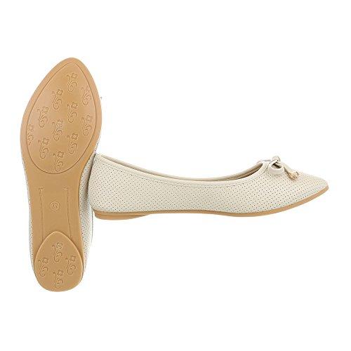 Da Beige Piatto Ballerine Donna Ital design Scarpe Classiche 8wEqxH6F
