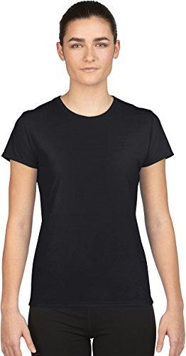 Gildan- Camiseta de deporte de manga Core Performance corta para chica Negro