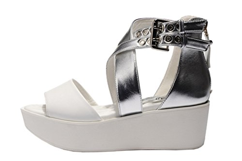 Guciheaven Women New Style Beautiful Cute Platform Peep Toe Sandals(8 B(M)US, Black)