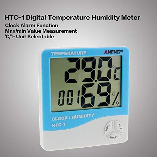 Peanutaor LCD dint/érieur /électronique num/érique temp/érature humidit/é Compteur thermom/ètre de la pi/èce hygrom/ètre r/éveil Station m/ét/éo