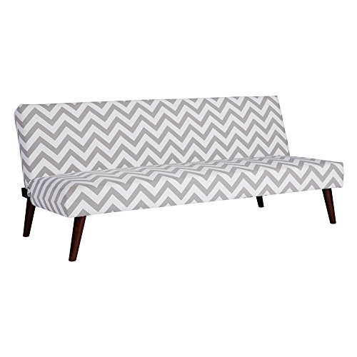 Kinsley Futon in Gray and White price