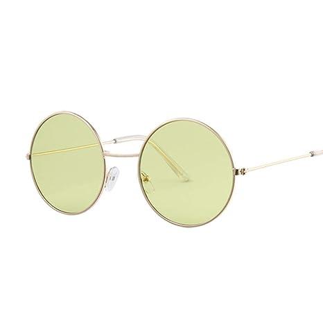 Yangjing-hl Gafas de Sol Redondas Bule de Moda para Mujer ...