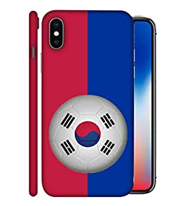 ColorKing Football South Korea 09 Multicolor shell case cover for Apple iphone X