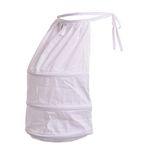 Crinoline Victorian (BLESSUME Victorian Dress Bustle White One Size)