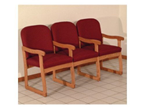 Prairie Three Seat Chair w/Center Arms by Wooden Mallet