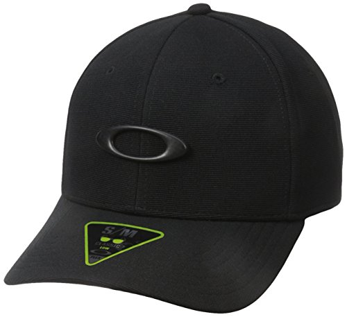 Oakley Mens Men's Tincan Cap, Black/Carbon Fiber, Small/Medium