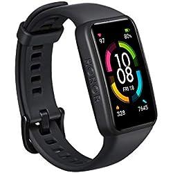 HONOR Band 6 Smartwatch Relojes Inteligentes Mujer Hombre, Monitoreo de SpO2 y frecuencia cardíaca Batería de 14 Días 1.47''AMOLED Pulsera Monitores Inteligente de Actividad 5ATM Smart Watch