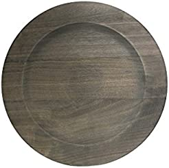 ChargeIt by Jay 1330475 Paulownia Charger Plate Gray  sc 1 st  Amazon.com & Amazon.com: Wood - Charger \u0026 Service Plates / Plates: Home \u0026 Kitchen