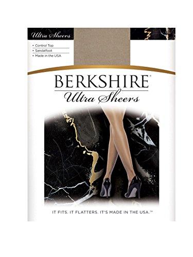 Berkshire Women's Ultra Sheer Control Top Sandalfoot Pantyhose - 4415, Nude, Size 2 (Pantyhose Sandalfoot Sheer)