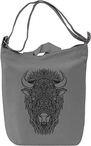 Bull head Borsa Giornaliera Canvas Canvas Day Bag| 100% Premium Cotton Canvas| DTG Printing|