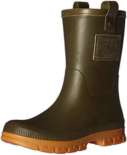 Polo Ralph Lauren Men's Warrington Rain Shoe, Olive/Gum, 7 D - Warrington Shops