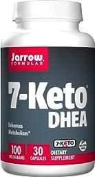 Jarrow Formulas 7-Keto DHEA, Enhances Metabolism, 100 mg, 30 Caps