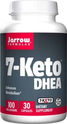 Jarrow Formulas 7-Keto DHEA, Enhances Metabolism, 1 mg, 3 Caps