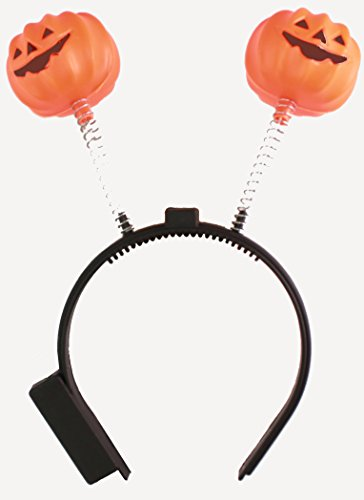 Holiday Decorations for Halloween Costumes: Pumpkin Headband (All White Costume Contact Lenses)
