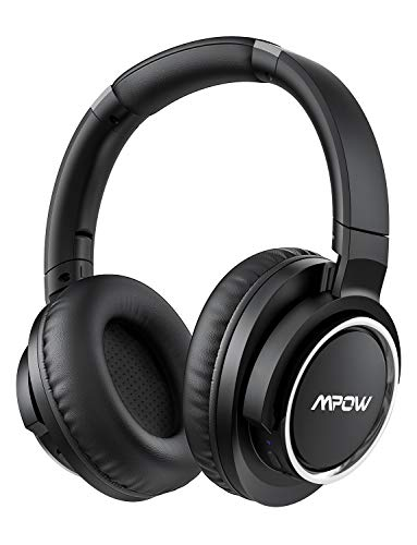 Mpow [Update] Active Noise Cancelling Headphones, 50 Hours Playtime with Hi-Fi Deep Bass, ANC Over Ear Bluetooth Headphones with Mic, Foldable Wireless Headset for Travel Work TV Cell Phone/PC