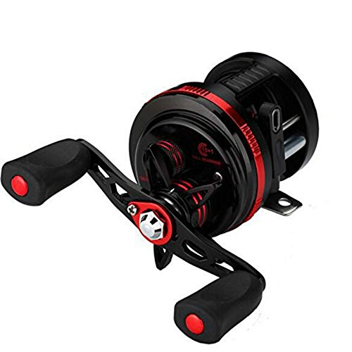 Isafish Baitcasting Reels 11BB Saltwater Baitcaster Drum Conventional Inshore and Offshore Saltwater and Freshwater Fishing Reels DE100