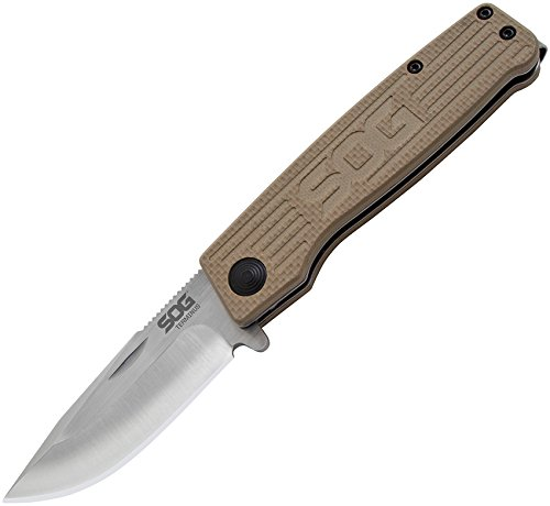 "SOG Specialty Knives & Tools TM1001-BX Slip Joint Folding Knife, 3"", Satin"