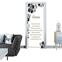 automatic door sticker Frame of monochrome colors For design postcards greeting invitation for a birthday Valentine s day wedding party holiday celebration For the decoration 112 door sticker mural 2