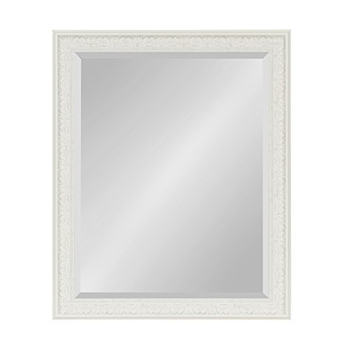 Kate and Laurel Alysia Framed Wall Mirror, 26.5x32.5, White