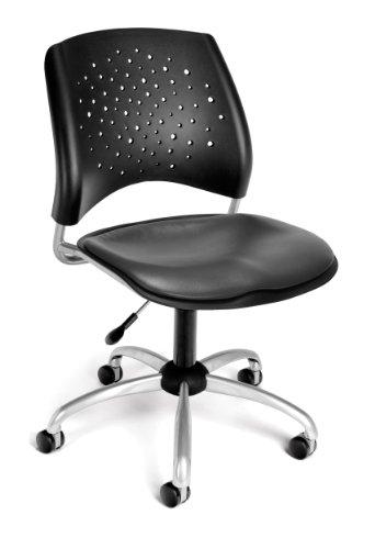 OFM Star Swivel Chair w/Vinyl Seats Charcoal