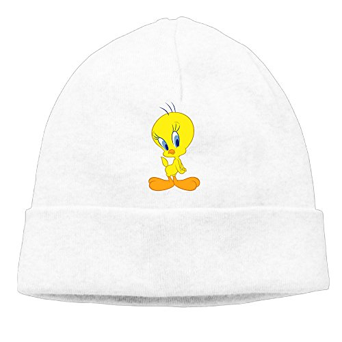 [Caromn Tweety Bird Beanies Skull Ski Cap Hat White] (Bay Watch Costumes)