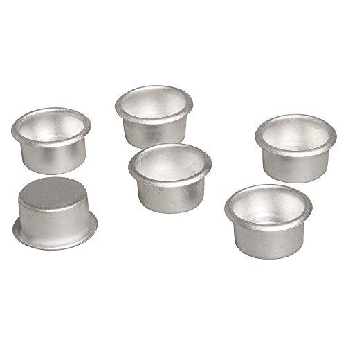 Rayher - 56935000 - Metall-Kerzenhalter, 2,2cm ø, Box 6Stück