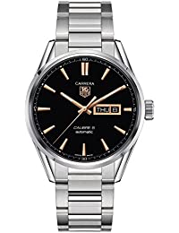 Carrera Calibre 5 Black Dial Stainless Steel Mens Watch WAR201CBA0723