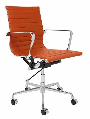 Office Orange Furniture - SOHO Ribbed Management Office Chair (Orange)