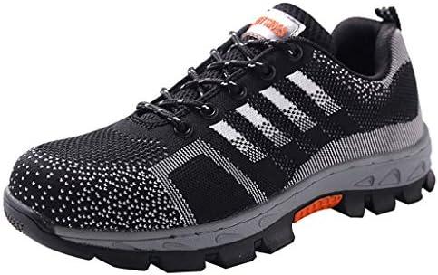 作業靴 軽量で消臭・防ダニの男性用シューズ、夏の通気性とパンク防止の作業靴、現場での耐摩耗性のアンチピアスシューズ 安全靴 (色 : M m, サイズ さいず : 41)