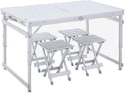 Mesa y sillas plegables para exteriores de aleación de aluminio ...