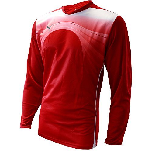 PUMA Mens PWR-C 3.10 GRAPHIC GOALKEEPER SHIRT For Soccer Red (Graphic Goalkeeping Jersey)
