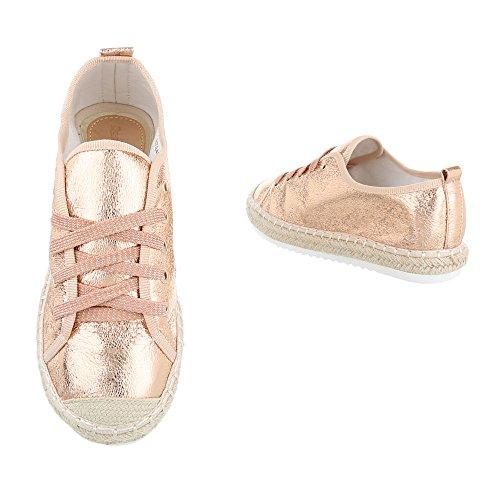 Ital-Design - Tobillo bajo Mujer Rosa Gold B744S-BL