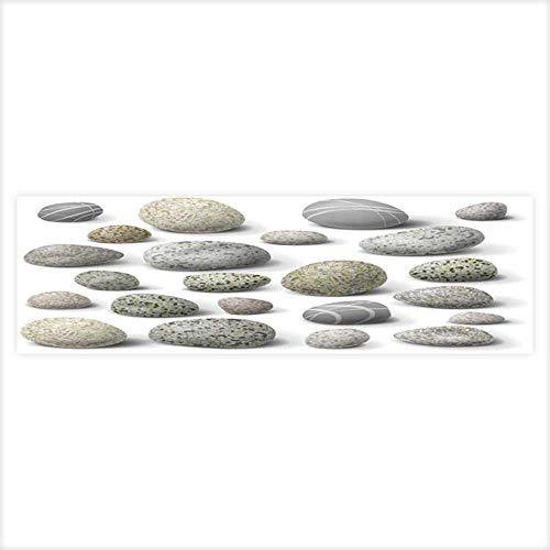 Leighhome Fish Tank Background Decor Static Image Backdrop Wallpaper Sticker Cling Decals The Variety of Rocks Isolated on White. Wallpaper Sticker Background Decoration 23.6
