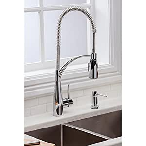 Elkay LKAV4061CR Single Handle Deck Mount Kitchen Faucet with Pre Rinse Spray